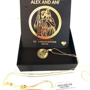 Alex and Ani Saint Christopher Exp Necklace Gold